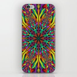 Crazy colors 3D mandala iPhone Skin