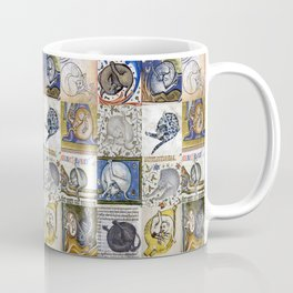 Medieval Cats Licking Their Butts Coffee Mug
