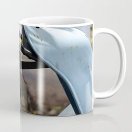 Detail of a blue tractor Coffee Mug