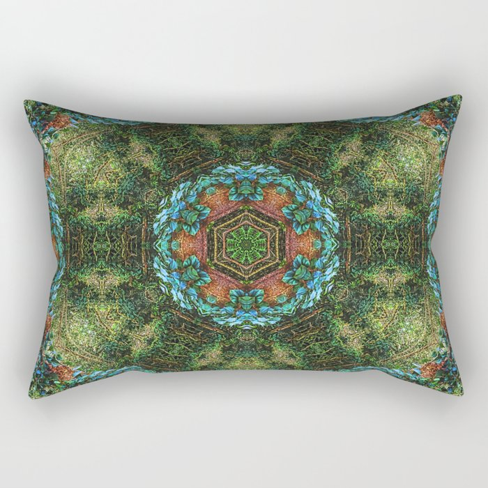 Tropical vine mandala Rectangular Pillow