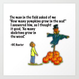 man in the field Art Print