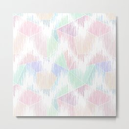 Delicate abstract pattern in pastel colors. Metal Print