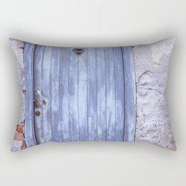 Old Blue Door Rectangular Pillow