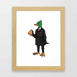 lawyer gift idea law profession judge Framed Art Print