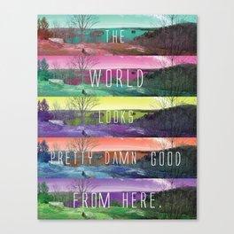 Pretty, Damn, Good Canvas Print