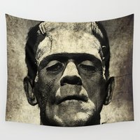 frankenstein Wall Tapestries featuring Frankenstein Grunge by Freak Shop | Freak Products