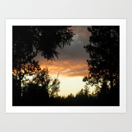 Gold Country Sunsets Art Print