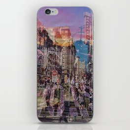 San Francisco city illusion iPhone Skin