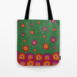 Retro Blooming Tote Bag