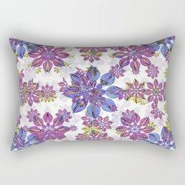 Stylized Floral Ornate Pattern Rectangular Pillow