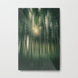 Forest Sunburst Metal Print
