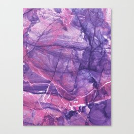 Smokey Ultra Violet and Pink Marble Canvas Print