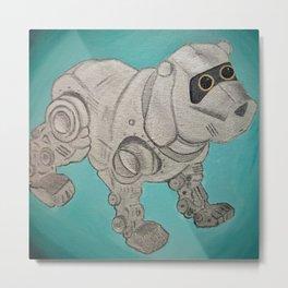 RobotDog Metal Print