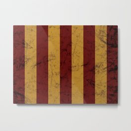 Burnt Red and Gold House Colours Metal Print