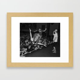 Down to Nothing Crowd Framed Art Print