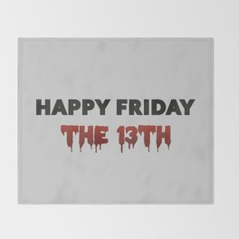 The Bloody Friday Throw Blanket