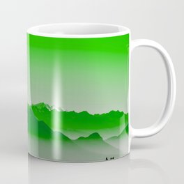 Rise above the mist. Green Coffee Mug