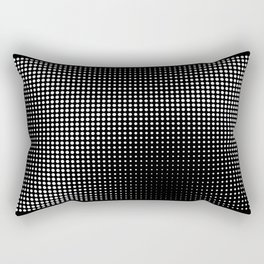 Full Configuration Black Raster - Optical game 13 Rectangular Pillow