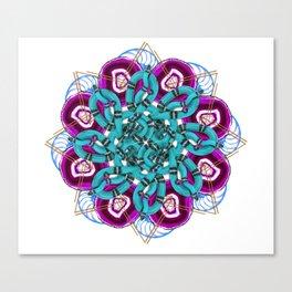 turquoise snakes mandala Canvas Print