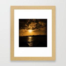 İstanbul Sunset  Framed Art Print