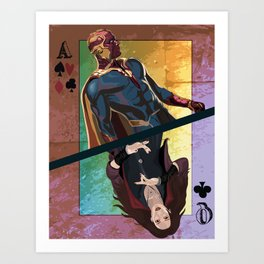 Vision/ Scarlet Witch Art Print