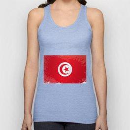 Tunisia Grunge Flag Unisex Tank Top