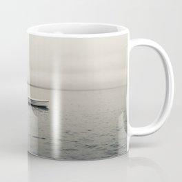 Lone Boat on Lake Coffee Mug