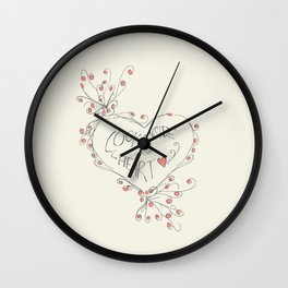 look inside your heart Wall Clock