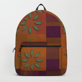 """Retro Squares & Flowers"" Backpack"