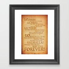 Viking Prayer Framed Art Print