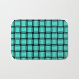 Turquoise Weave Bath Mat