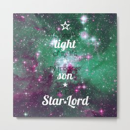My Little Star Lord with Stars Metal Print