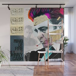 Johnny Cash - The Man In Black Wall Mural