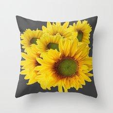 Decorative Charcoal Grey  Throw Pillow