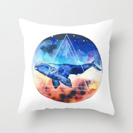 Galactic Whales Throw Pillow