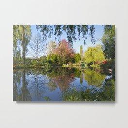 Claude Monet's water-garden in Springtime Metal Print