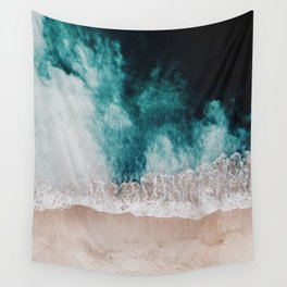 Ocean (Drone Photography) Wall Tapestry