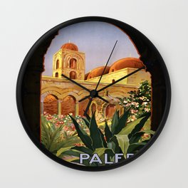 Vintage poster - Palermo Wall Clock