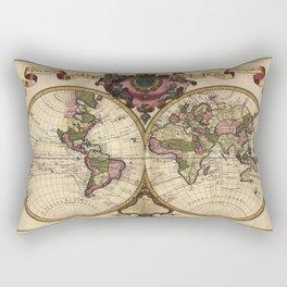 Mappemonde a l'usage du roy (World Map 1720) Rectangular Pillow