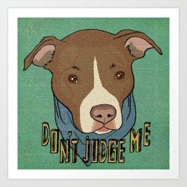 Pit bull Pride Art Print