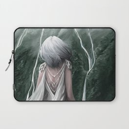 Girl  standing by a mountain Digital Art Painting Laptop Sleeve
