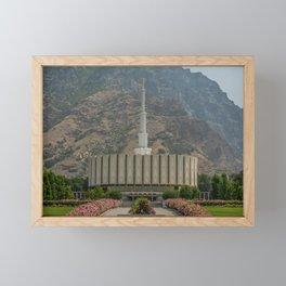 Provo Utah Mormon Temple Latter Day Saints Church Framed Mini Art Print