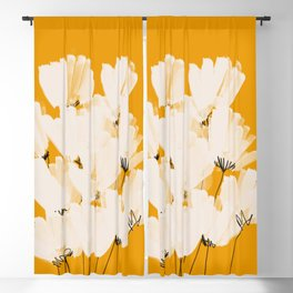 Flowers In Tangerine Blackout Curtain