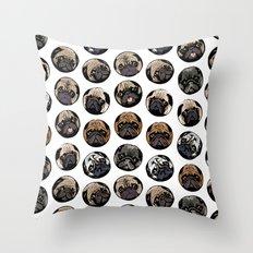 Pugka Dot Throw Pillow