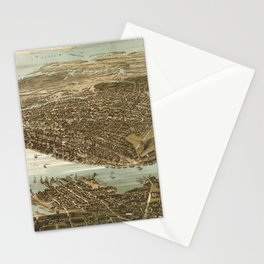 Vintage Pictorial Map of Norfolk Virginia (1892) Stationery Cards