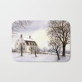 Winter in New England Bath Mat