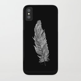 Light white feather iPhone Case