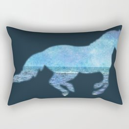 Running Beach Rectangular Pillow