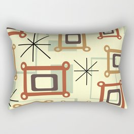 Mid Century Modern Geometric Art Rectangular Pillow