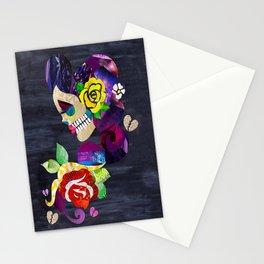 Sad Sugar Skull Stationery Cards